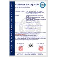 Wuxi BeiYi Excavator Parts Factory. Certifications