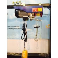 China 100 - 240V Electric Wire Rope Hoist With Moving Trolley Single Hook on sale