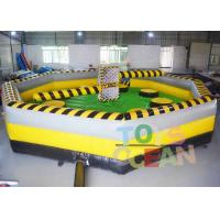 Quality 7 * 7m Inflatable Interactive Games inflatable Meltdown Wipeout Eliminator Sweeper Game for sale