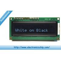 China White on Black 3.3V Character LCD Display ROHS , 16x2 LCD Display wholesale