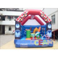 China White Giant Bouncy Castles Waterproof /  Sports Combo Bounce House With Roof wholesale