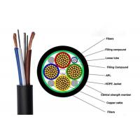 2 - 24 Cores Custom Fiber Optic Cables Composite Hybrid Fiber Optic Cable