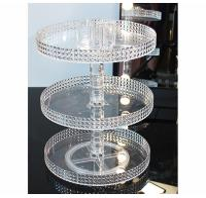 Quality Diamond surface cutting process transparent acrylic cosmetic storage box desktop for sale