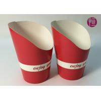 China 9oz Height 120mm French Fries Cup , Double PE Coated Hot Chip Cup wholesale