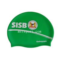 China silicone swim hat with logo and colorful swim cap wholesale
