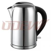 China Cordless Stainless Steel Electric Kettle 1.7L Water Boiler wholesale