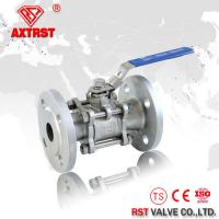 China DIN Stainless Steel 3PC ball valve flanged RF Floating ball type PN16 PN40 on sale