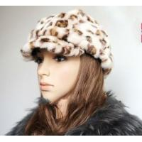China Leopard Pattern Mink Fur Hats Caps on sale