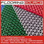 China PVC S Mesh Floor Mat Vinyl Z Web anti-slip Floor Mat scarpe dirt and drain water wholesale