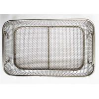 Medical Disinfection Stainless Steel Wire Mesh Baskets SGS MSDS Certification