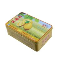 China Lemon Cake Tin Box ,CYMK Printed Metal Container Food Graded 0.23mm wholesale