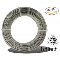 China Stainless Aircraft Steel 7x7 Wire Rope Cable For Railing / Decking / Diy Balustrade, 1/8inch wholesale