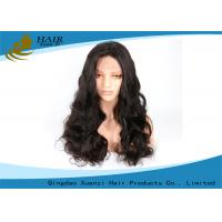 China Brazilian Black Color Human Hair Lace Wigs Silky Soft With Body Wave Style wholesale
