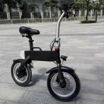 black color rear wheel hub motor E bike foldable bicycle with lg battery
