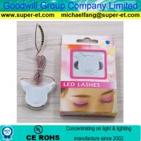 LED Novel Items Voice control LED Lashes 3v Coin Battery Power Supply Last for 4 Hours