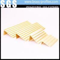China Rustproof Copper Extruding Stair Nosing Strip Brass Stair Nosing on sale