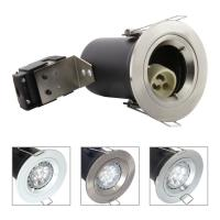 China Die Cast Aluminium GU10 Fixed Fire Rated Downlight - Satin Nickel Color wholesale