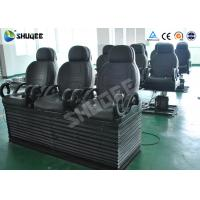 China Electric 5D Cinema Equipment With Black Motion Chair , Provide Accurate Motion Effect wholesale
