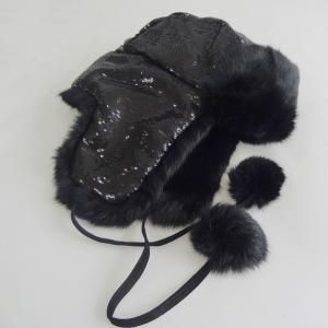 China Plain Customized Animal Fur Hats , Plush Style Shearling Sheepskin Hat on sale
