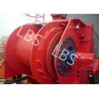China Grey Colour Anchor Windlass Winch Smooth Durm For Pulling / Pushing wholesale