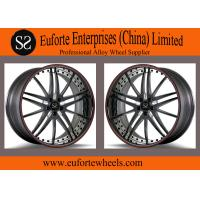 China SS wheels - Gloss Black Red Ring Forged Wheels 100 - 139 . 7mm PCD wholesale