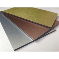 China Brushed PE / PVDF Aluminum Composite Panel , 3mm / 4mm / 5 mm Aluminium Sheet wholesale