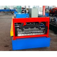 China Automatical Steel Roof Panel Roll Forming Machine Cr 12 Cutting Blade PLC Control wholesale