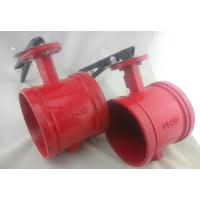 China XD381X UL Listed Grooved Butterfly Valve with Tamper Switch and worm gear wholesale