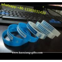 China Sports Theme and silicone rubber Material waterproof silicone bracelet wholesale