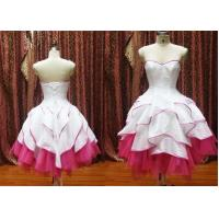 China OEM Fashion Sweetheart Neckline Ruffles Mini Masquerade Prom Dresses / Knee Length wholesale
