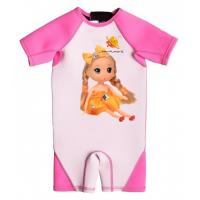China High Quality Girl Neoprene Wetsuit with UV Protection and Cartoon Doll wholesale