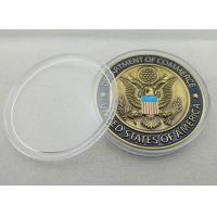 China 3D Custom Commerce Iron / Brass / Copper Awards Coin with Clear Plastic Box wholesale