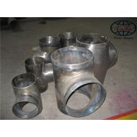 China Gr.1 Gr.2 Gr.7 Titanium Fittings , Painted DN15 - DIN 850 Equal Tee wholesale