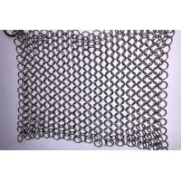 China 304 316 Stainless Steel Chainmail Cast Iron Scrubber 7 / 8 Inch For Kitchen wholesale
