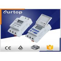 China White Color Programmable Digital Timer Switch , Weekly Program Timer Switch wholesale