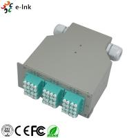Buy cheap 24 Ports Industrial DIN-Rail Fiber Patch Panel with 12pcs LC/PC SM Quad adapters from wholesalers