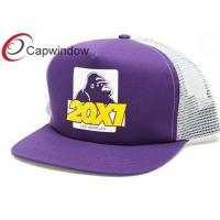 China 5 Panel Trucker Mesh Cap with Printed Image on Frontside / Summer Hat wholesale
