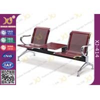 China Polish Finish Upholstered Public Waiting Chairs For Government Seat Area wholesale