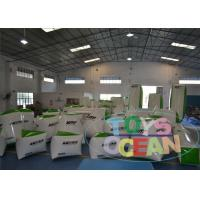 China White Extrior Paintball Blow Up Bunkers / Security Paintball Air Bunkers wholesale