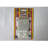 China Column Shape Magic Relighting Candles , White Striped Birthday Candles wholesale