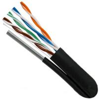 Twisted Network Lan Cable UTP CAT5E+MS with Self-Supporting Steel Messenger UV PE Outdoor