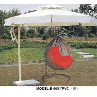 Outdoor Furniture PVC Black Hanging Chair with Umbrella