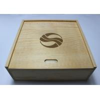 China Custom Decorative Wooden Box With 4 compartments , Pine Storage Box wholesale