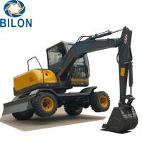 Buy cheap Easy Operation Road Builder Excavator 7 Ton Wheel Excavator Rubber Tire from wholesalers