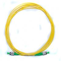Quality G657A1/A2 Yellow Fiber Optic Patch Cord Single mode cables ABS Material for sale