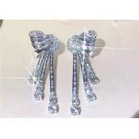 Buy cheap High End Personalized 18K White Gold Diamond Earrings For Women from wholesalers