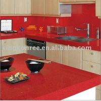 Red Man-made Stone Kitchen Island Top,countertop