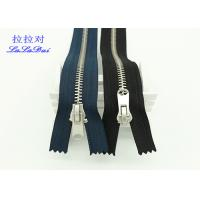 China Heavy Duty Antique Silver Metal Teeth Zipper 5# Black Tape For Clothes And Jeans wholesale