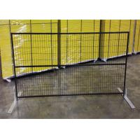 "China 6ft x 10ft canada standard temporary fence 2"" x 4""X10.5GA aperture pipe 1""x1'x1.7GA thick brace 3/4""x19GA POWDER coated wholesale"
