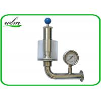 China Adjustable Automatic Pressure Relief Valve / Sanitary Union Exhaust Pressure Valve wholesale